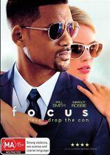 Focus (DVD, 2015) NEW R4 Will Smith, Margot Robbie