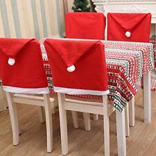 4 X Santa Noël Chaise Salle à Manger HOUSSES de Siège Tissu Couvre Table