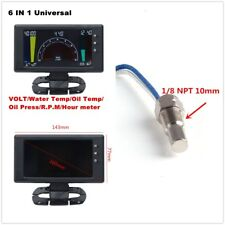 Multi-function 6in1 Car VOLT&Water Temp&Oil Temp&Oil Press&RPM &Hour Meter Gauge