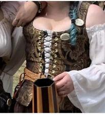 Renaissance Sexy Wench Wear Steel Boned Bodice Pirate Wench Steampunk