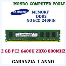 2 GB (1X2GB) DDR2 MEMORIA/RAM<SAMSUNG>PC2 6400 2RX8 800MHz NO ECC-ALTA DENSITÀ