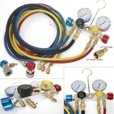 Hvac Ac Manifold Gauge Set 4 Valve R410a R22 R134a Refrigerant Diagnostic Tools