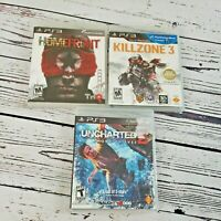 PS3 Action Shooter Game Lot - Homefront, Killzone 2, Uncharted 2 PlayStation 3