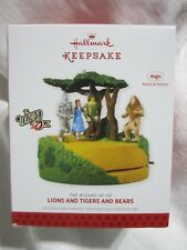 2013 Hallmark Ornament The Wizard of Oz Lions and Tigers and Bears NIB