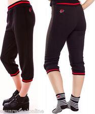 130241 Black Rose Fleece Capris Pants Sweatpants Sourpuss Cozy XX-Large 2XL