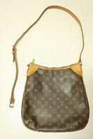 Authentic Louis Vuitton Monogram Odeon MM Cross body Shoulder Bag #8158