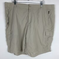 Columbia Cargo Shorts Womens Size 22w Light Weight Mid Rise Outdoors Hiking Camp