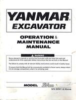 YANMAR SV100 EXCAVATOR OPERATION and MAINTENANCE  MANUAL