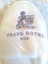 GRAND HOTEL WIEN New White Ladies Slippers Sealed
