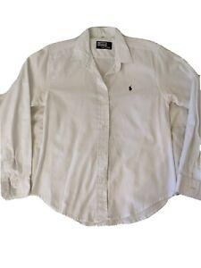 Ralph Lauren White Long Sleeve ladies Shirt size M / S / 8 / 10