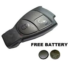 Mercedes Benz 2 Button  Remote Key Fob Case For  A C E ML Class 2 x FREE BATTERY