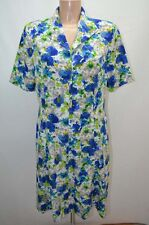 DEVERNOIS ROBE DRESS VINTAGE BLEU 40 42 L