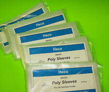 500 FIRST DAY COVER POLY SLEEVES FOR #6 3/4 COVERS, HECO SAFE-T #US402 (5 PACKS)