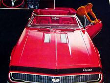 1967 CAMARO SS 350 CONVERTIBLE ORIGINAL AD -RS/Z28/seat/hood/door/steering wheel