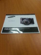 SAMSUNG NX200 20.3mp NX CAMERA 150 PAGES PRINTED INSTRUCTION MANUAL GUIDE A5
