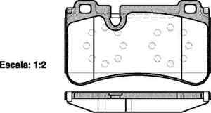 REMSA 1280.00 REAR DISC Brake Pad (4) Set FITS Mercedes CLS 2004>