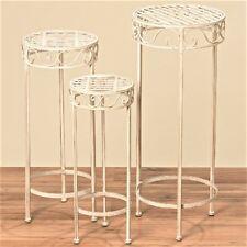 3 teilig Tisch Beistelltische 56 cm bis 77 cm Metall Blumentisch Blumenhocker