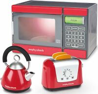 Casdon MORPHY RICHARDS MICROWAVE, KETTLE & TOASTER SET Role Play Kids Toy BN
