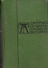 1891 Bret Harte Short Story Collection A Sappho of Green Springs – First Edition
