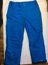 Mens Columbia Arctic Trip Insulated Ski Snowboard Pants Adjustable Xl Blue