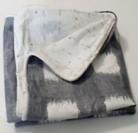Set of Stone Cottage Braxton Grey King Shams Pillow Cases Gray White 100% Cotton