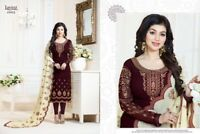 Indian Bollywood Brown Shalwar Suit Fully Stitched For Wedding Party EID XL 42""