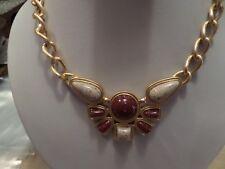 Avon Large Plastic Stone Look Necklace Y2