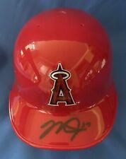 MIKE TROUT LOS ANGELES ANGELS SIGNED AUTOGRAPHED MINI HELMET MLB COA