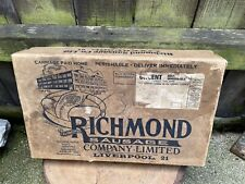 More details for vintage 1920's richmond sausage's co ltd delivery box rare cardboard liverpool