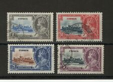 More details for cyprus sg 144-147 1935 silver jubilee set fine used.