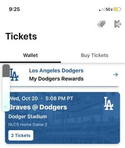 NLCS Game 3 Braves @ Dodgers Section 158LG