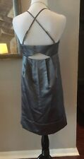 Max and Cleo Silver Gray Cut-Out Back Empire Waist Party Prom Dress Sz 10 NWT