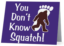 You Don't Know Squatch! Bigfoot Stationary Note Cards set of 10