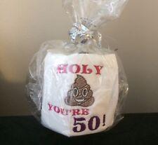 Novelty Toilet Roll 50th Birthday Present Gift Funny Humour Gag Joke Loo Fifty