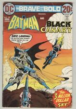 Brave and The Bold #107 July 1973 VG Batman, Black canary