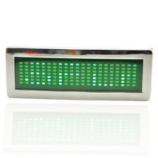 Blue Red Yellow Green DIY Text Name Flash Chrome LED Scroling Belt Buckle Party