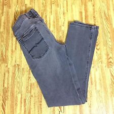 QUICKSILVER Gray Jeans Size 27 Stretchy Straight Leg Zip Fly L6