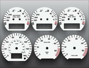 1994-1997 Volkswagen Passat TDI Dash Instrument Cluster White Face Gauges