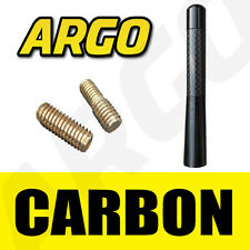 BLACK CARBON BEE STING AERIAL ANTENNA MAST STUBBY ROOF MINI ALUMINIUM RADIO AMFM