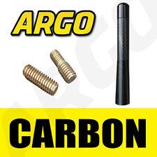 De Carbono Negra coche antena Bee Sting mástil antena Ariel Arial Mini Radio Stubby