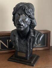 Rare Large Bronzed Resin Bust Of John Lennon By Sculptor John Somerville