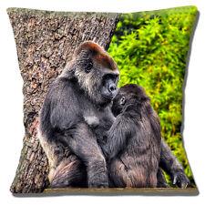 Gorila de Espalda Plateada & Young 40.6cmx40.6cm 40cm Funda cojín Lindo Foto