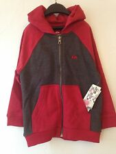 NWT Quiksilver Rust Red And Gray Hooded Sweatshirt Size 2T EXCELLENT!