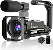 Ultra HD 36MP, Video Camera 2.7K Camcorder Vlogging Camera for YouTube IR Night
