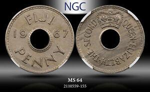 1967 FIJI PENNY NGC MS 64 #A