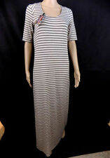 Viscose 3/4 Sleeve Striped Maxi Dresses for Women