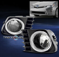 BUMPER LED FOG LIGHTS LAMPS CHROME W/WIRING HARNESS FOR 2012-2014 TOYOTA PRIUS V