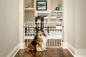 Carlson Pet Products Tuffy Metal Expandable Pet Gate Includes Small Pet Door ...