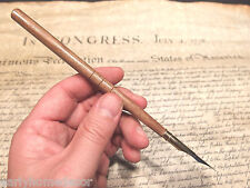 Vintage Antique Style Turned Wood Calligraphy Inkwell Ink Dipping Pen