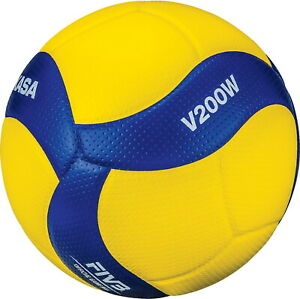 Mikasa 2020 FIVB Olympic Games Official Volleyball, Yellow and Blue